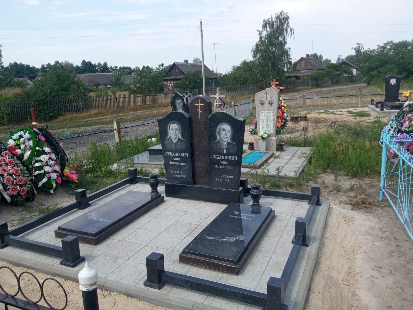 Благоустройство могил тротуарной плиткой